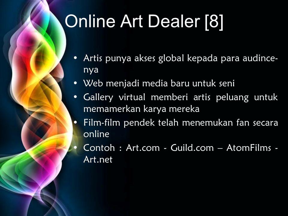 Online Art Dealer [8] Artis punya akses global kepada para audince-nya